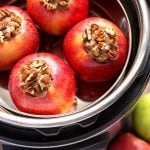 Four Baked Apples in a pot inside of a pressure cooker