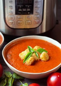 Instant Pot Fresh Tomato Basil Soup
