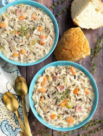 Crock Pot Creamy Chicken Wild Rice Soup