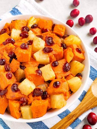 Instant Pot Sweet Potato Cranberry Casserole