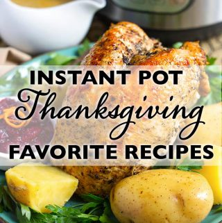 A great list of Instant Pot Thanksgiving Recipes. In this list are Instant Pot Thanksgiving recipes and Instant Pot Christmas dinner and dessert recipes. Of course, these are interchangeable! There's something for practically everyone in this list of pressure cooker Thanksgiving recipes! simplyhappyfoodie.com #instantpotthanksgiving #instantpotholiday