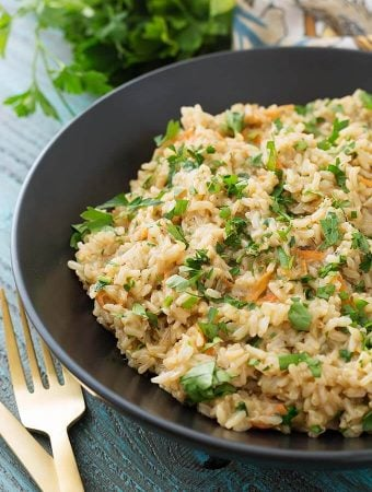 Instant Pot Brown Rice Pilaf