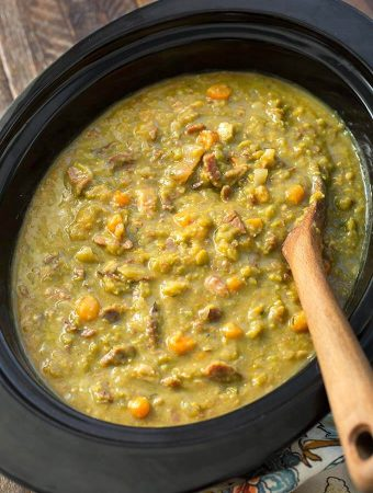 Split Pea Soup in a slow cooker