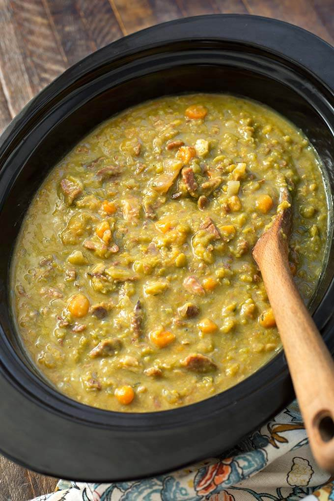 Slow Cooker Split Pea Soup Simply Happy Foodie
