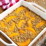Easy Peach Baked Oatmeal