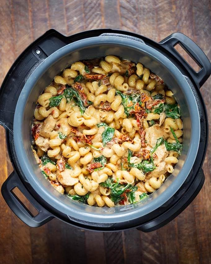 Tuscan Chicken Pasta in a pressure cooker