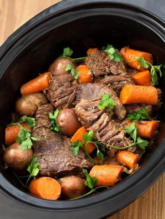 Pot Roast with vegetables in a slow cooker