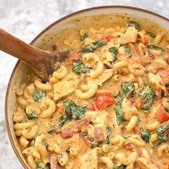 Instant pot creamy garlic tuscan pasta