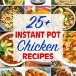 instant pot chicken recipes collage