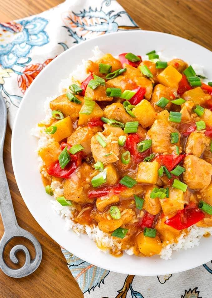 Instant Pot Hawaiian Chicken and Rice
