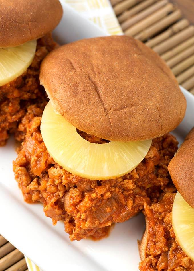 Instant Pot Hawaiian BBQ Sloppy Joes