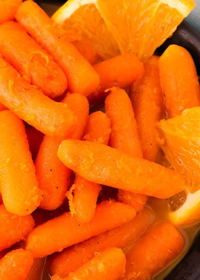 Closeup of Orange Maple Carrots