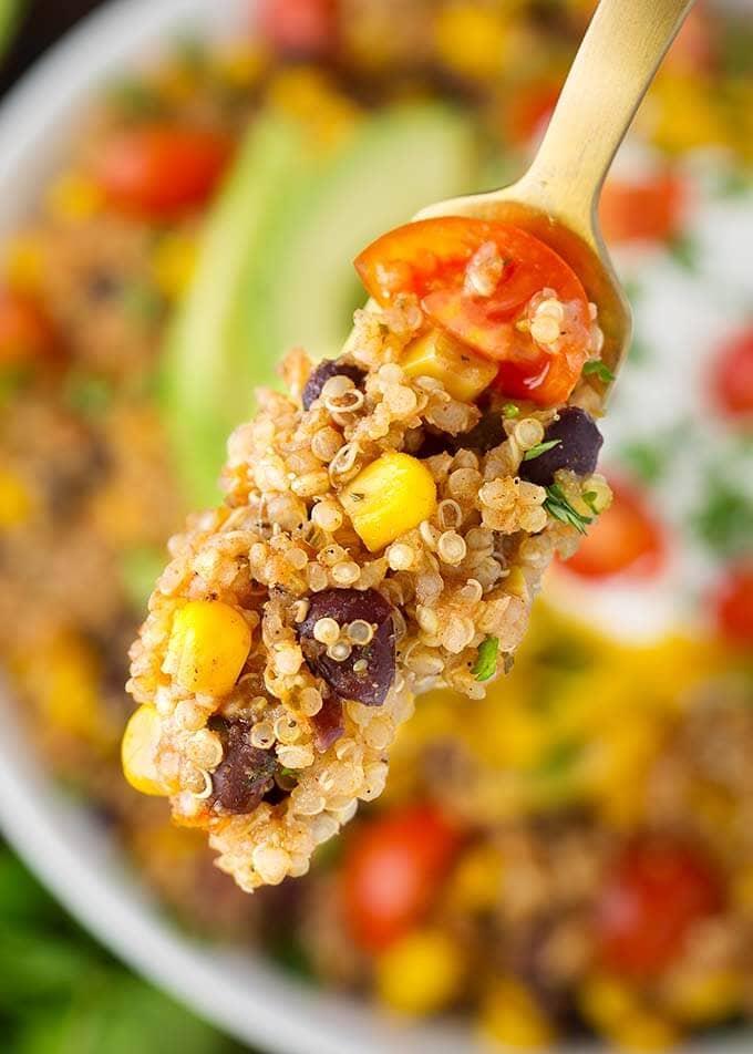 Instant Pot Quinoa Taco Bowls