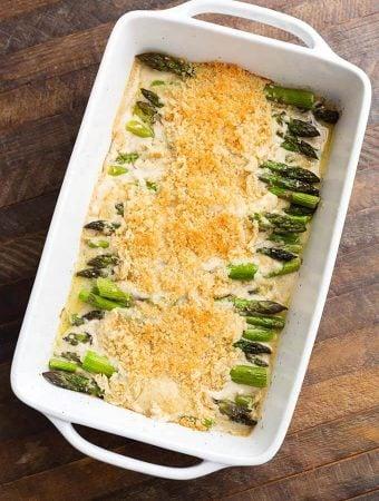 Creamy Baked Asparagus Alfredo