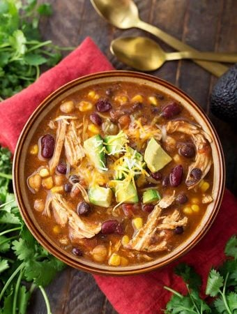 Instant Pot Chicken Taco Soup