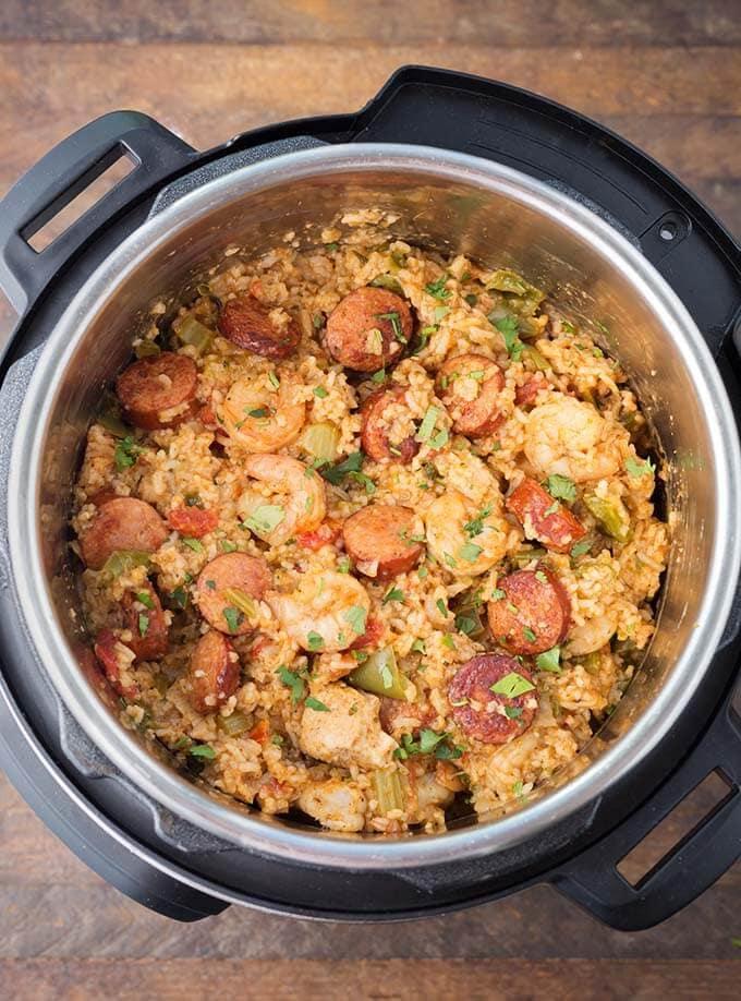 Jambalaya in a pressure cooker