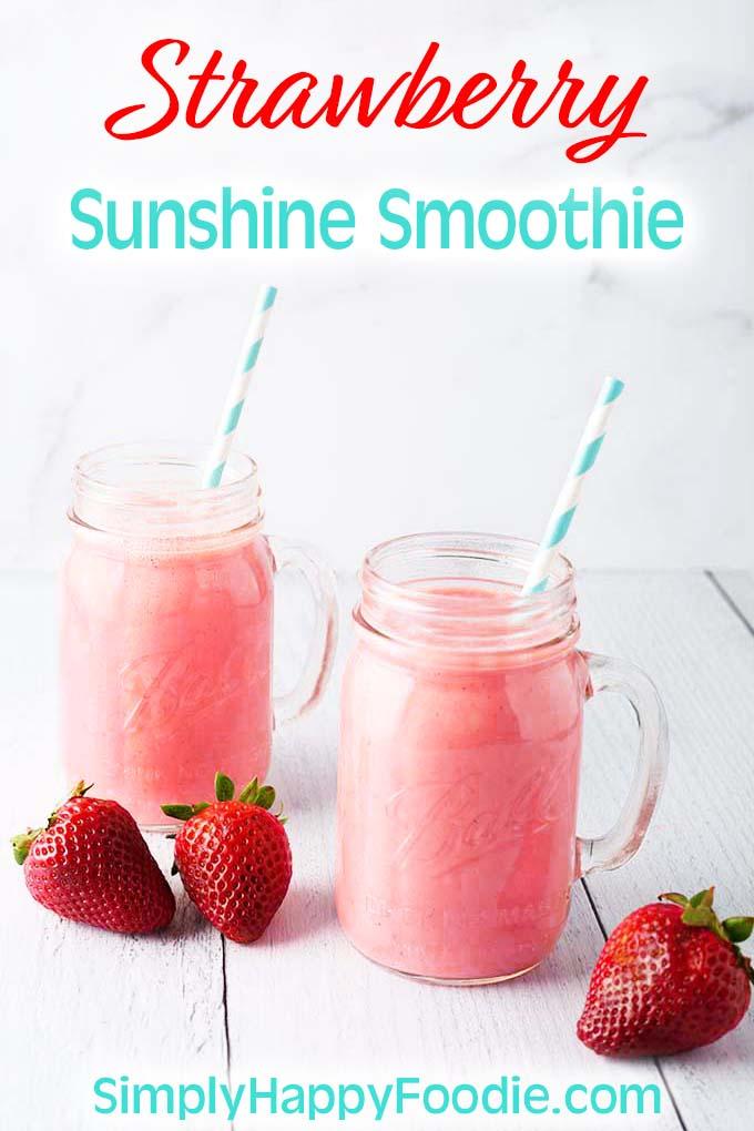Strawberry Sunshine Smoothie
