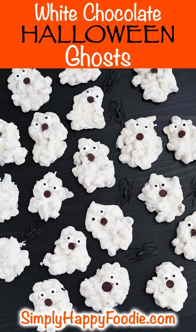 White Chocolate Halloween Ghosts
