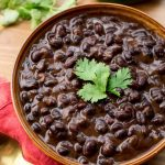 Cuban Black Beans in brown bowl