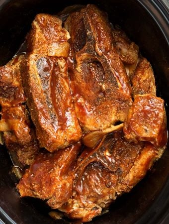 Country Style Ribs in a slow cooker