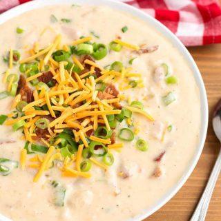 Slow Cooker Loaded Potato Soup