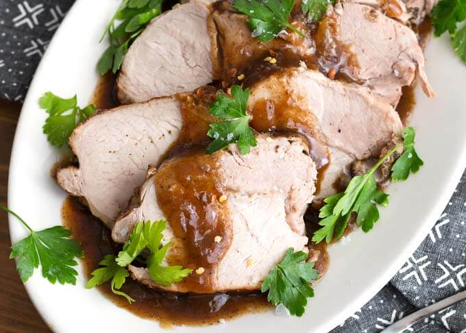 Instant Pot Balsamic Pork Loin Roast