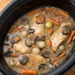 Coq Au Vin in Slow Cooker