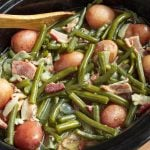 Slow Cooker Green Beans with Bacon and Potatoes