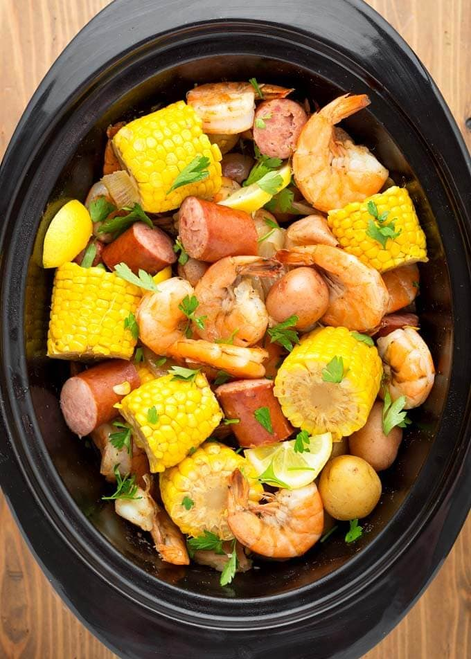 Shrimp Boil in Slow Cooker