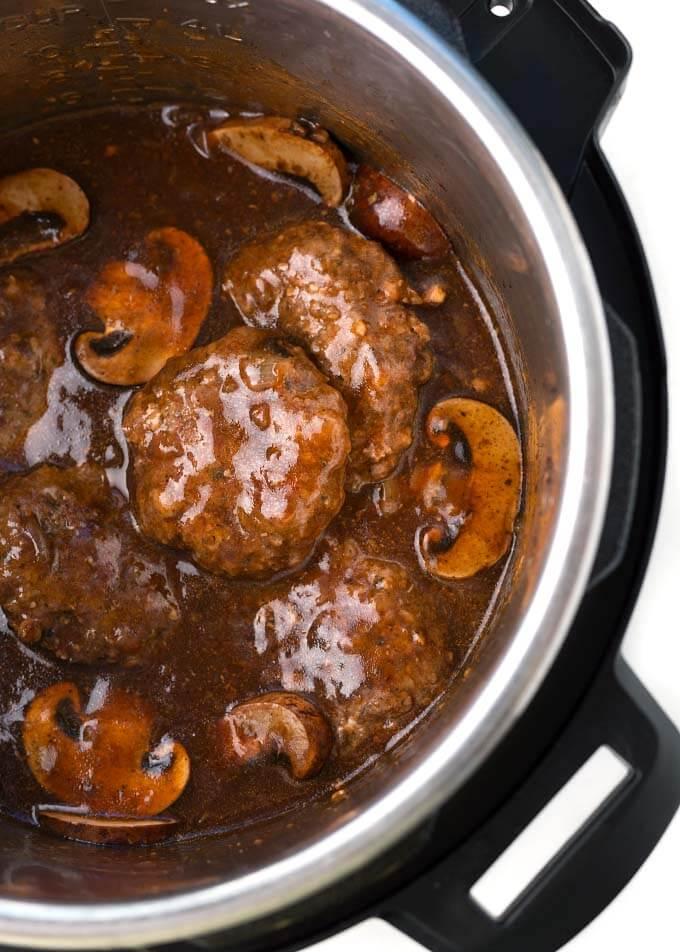 Salisbury Steaks in pressure cooker