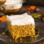 Pumpkin Cake with Cinnamon Butterscotch Frosting
