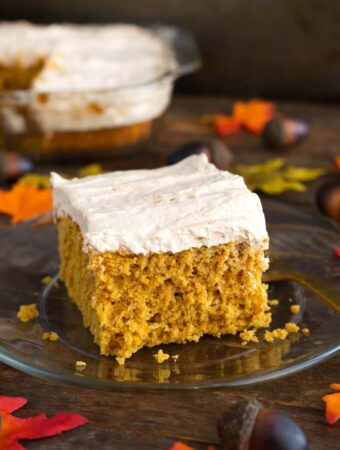Pumpkin Cake – Cinnamon Butterscotch Frosting