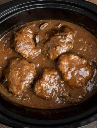 Slow Cooker Salisbury Steak with Gravy