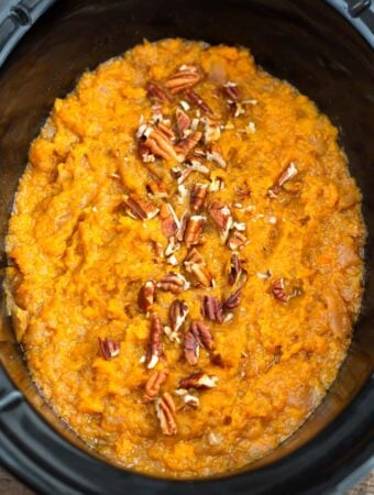 Sweet Potatoes and Apples in slow cooker