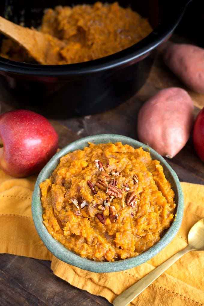 Slow Cooker Sweet Potatoes and Apples