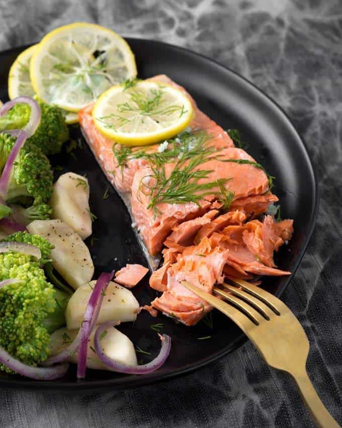 Instant Pot Lemon Butter Salmon
