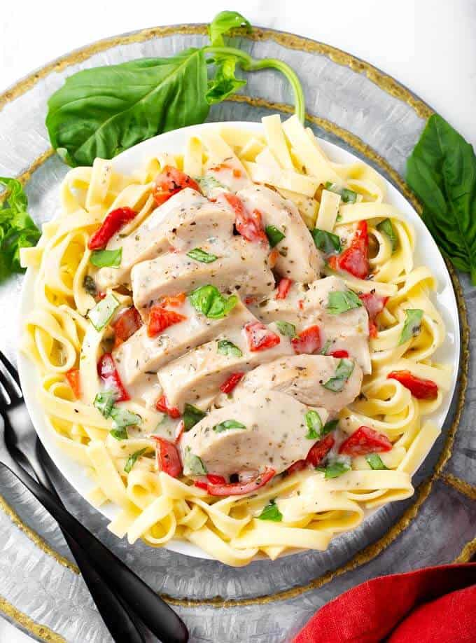 Instant Pot Creamy Italian Chicken Breasts Simply Happy Foodie