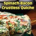 Instant Pot Spinach Bacon Crustless Quiche