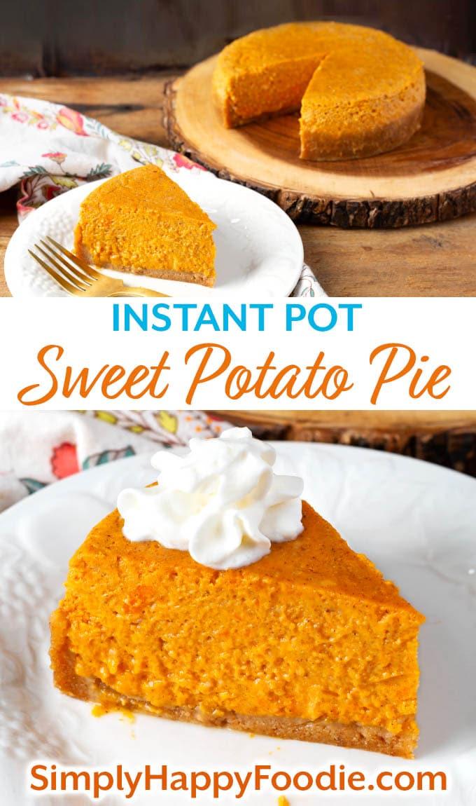 Instant Pot Sweet Potato Pie pin