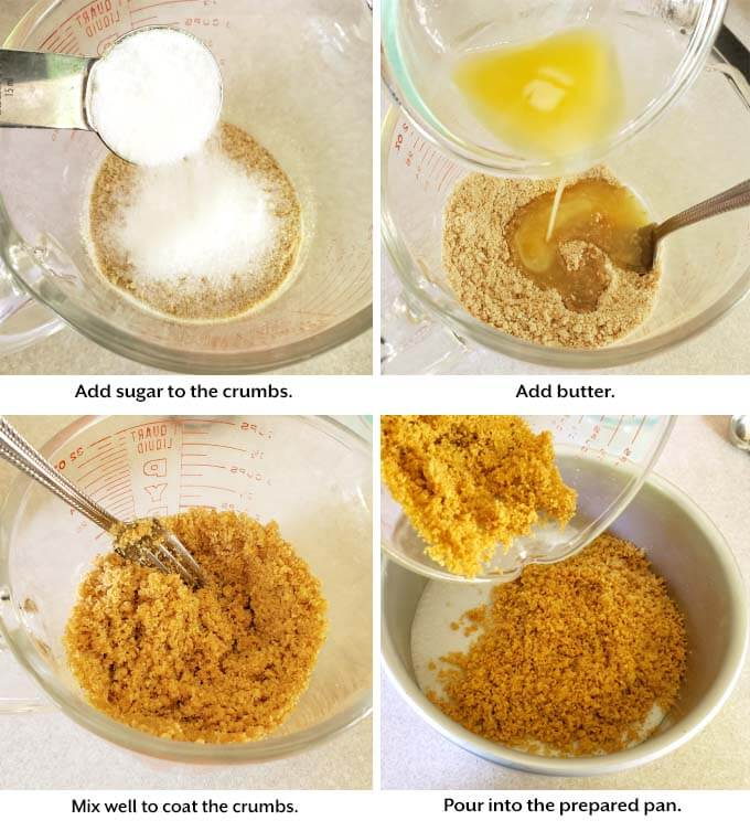adding ingredients to Sweet Potato Pie steps