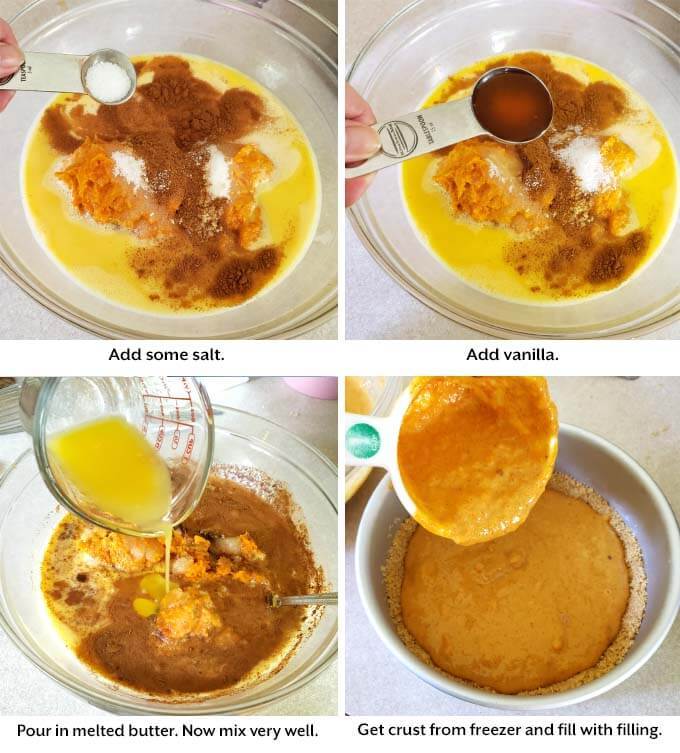 Sweet Potato Pie mixing collage
