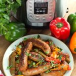 Instant Pot Sausage and Peppers pinterest pin