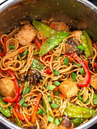 Instant Pot Lo Mein in the IP