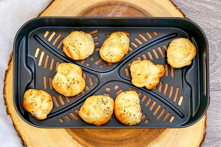 mozzarella balls after air frying