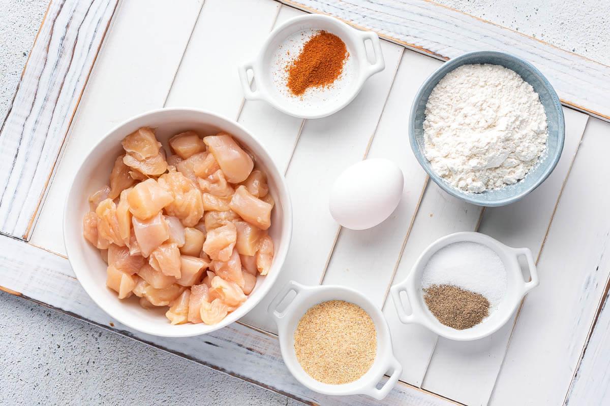 ingredients for popcorn chicken