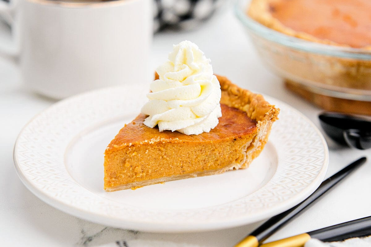 pie on a white plate