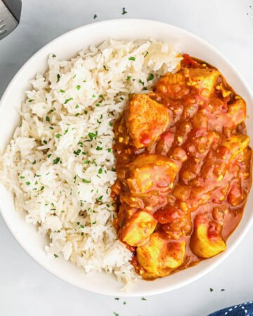 Instant Pot Chicken Curry with Coconut Rice